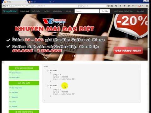 Tạo giỏ hàng cơ bản trong PHP(Shopping cart)