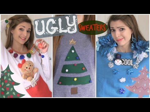 DIY UGLY CHRISTMAS SWEATERS - Easy & Affordable - How To | SoCraftastic