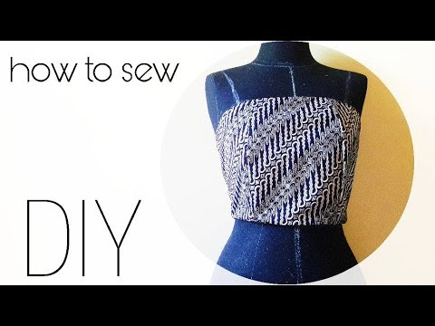how to sew straight across strapless bodice