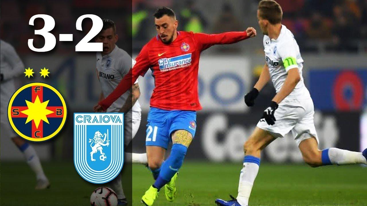 Rezumat: FCSB - U Craiova 3-2, gol marcat de portarul Pigliacelli + 3 eliminati
