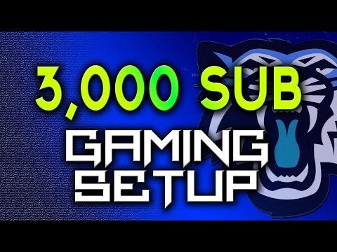 3K Subscriber Gaming/Youtube Setup Tour!  My Room Gaming Setup (2015)