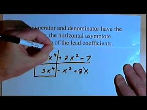 Horizontal Asymptotes of Rational Functions  143-4.2.4.a