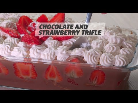 Chocolate And Strawberry Trifle | Dessert Recipe