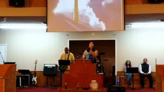 "Kristy sings ""Rooftops"" at her family church"