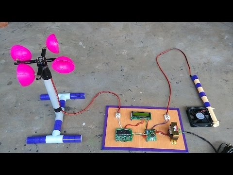 Anemometer using Microcontroller