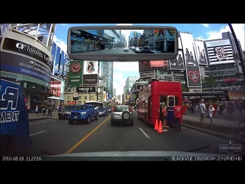 Driving in Toronto - Driving Tour of Downtown Toronto - August 2016