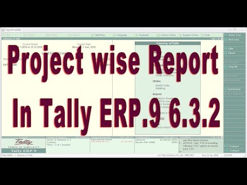 Project wise Report in Tally ERP9 - Accounts with Inventory