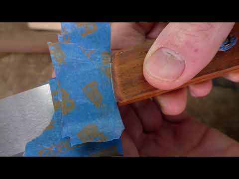 """Series: Make the Ron Hock 8"""" Kitchen Knife Kit - Part 3: Gluing the Handle"""