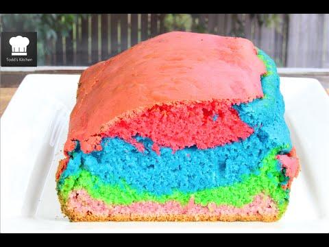 Rainbow Ice Cream Bread