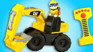 Caterpillar Pelleteuse CAT Excavator Construction Vehicle Engin de Chantier Jouet Toy Review Ruben