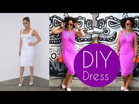 DIY DRESS in 5min | JENNIFER LOPEZ INSPIRED | DIY Clothes