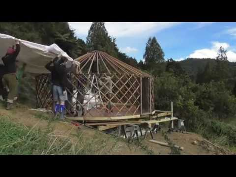 Building a yurt in 1.5 hours (the ultimate pop up tiny house!)