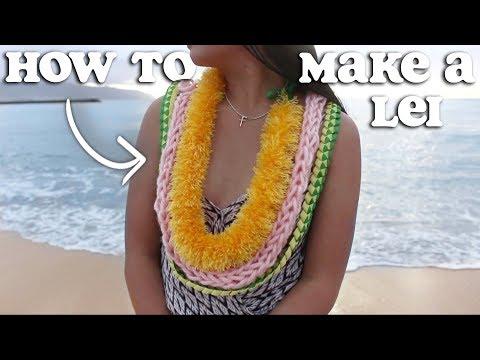 DIY: How to make a Lei (3 types: ribbon lei, yarn lei) | Jonalyne Joy