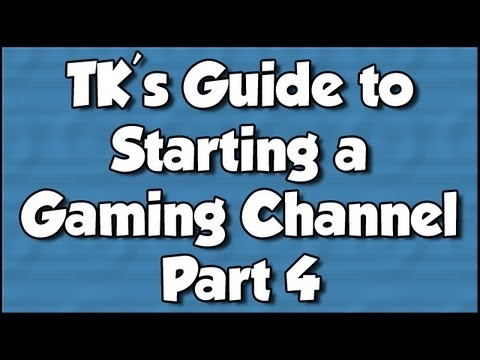 TK's Guide to Starting a Gaming Channel - Part 4: HD PVR and Sony Vegas Settings Part 2/2