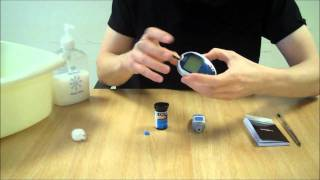 Watch a step by step guide on how to test your blood glucose levels. In order to perform a blood glucose test you will require your blood glucose meter, a test strip to hand, a lancing device and a monitoring diary to record the results of your blood glucose test.  Diabetes.co.uk