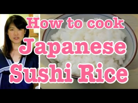 Sticky Sushi Rice Japanese Authentic Cooking