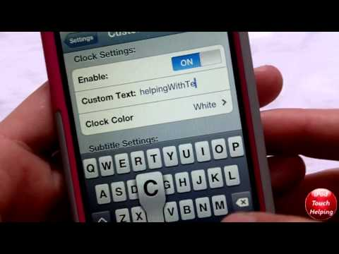 Change Lockscreen Time to Custom Text on iPhone, iPod Touch, iPad