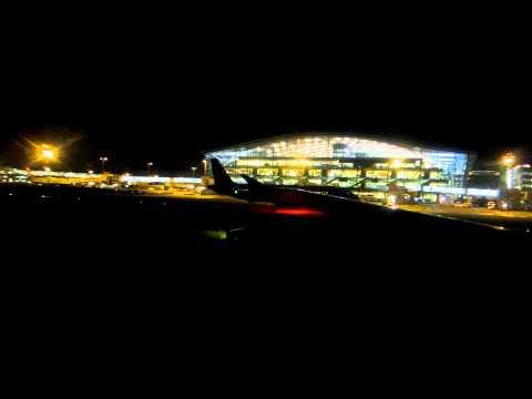 Heathrow Terminal 5 at night