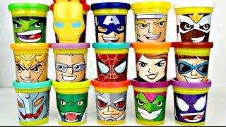 15 Superhero Play-Doh Marvel Avengers Heads