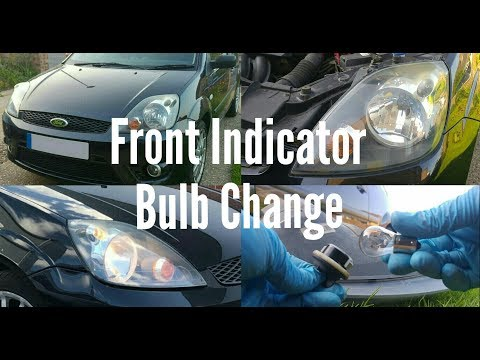 Front Indicator Bulb Change - Ford Fiesta MK6