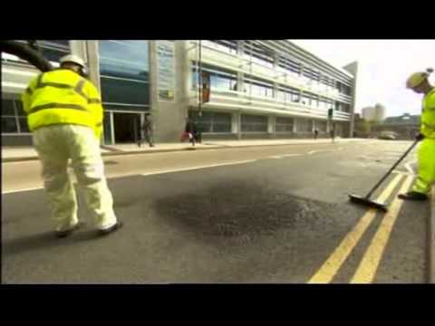 Walsall Council's new and fast way on filling in potholes