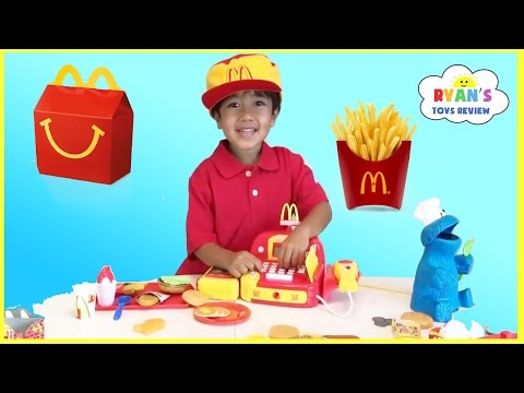 McDonald's Happy Meal Toy Pretend Play Food! Cash Register Hamburger Maker French Fries Shake