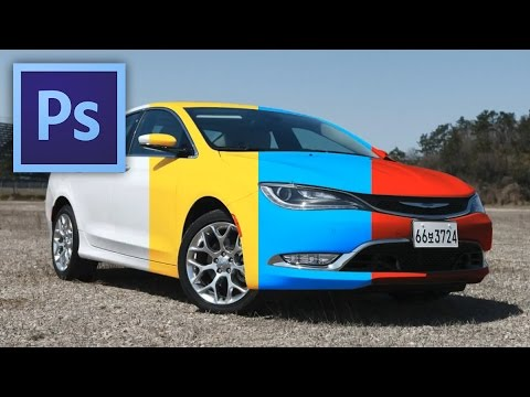 Photoshop tutorial - How to repaint a white car? (w/ English subtitles)
