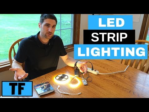 Installing LED Flexible Strip Lighting Ideas and Options