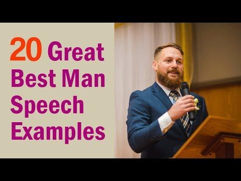 Short Best Man Speech Examples For 2018