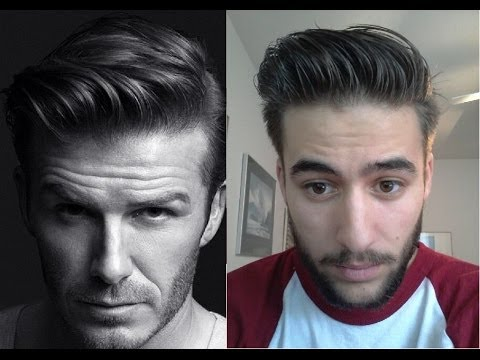 David Beckham H&M Inspired Hairstyle - How to style tutorial - Hanz de Fuko Hair Products