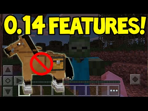 Minecraft Pocket Edition - 0.14.0 Update! - HORSES!? + New Mob CONFIRMED!