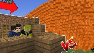 BASE VS TSUNAMI DE LAVA NO MINECRAFT !! - (DESAFIO)