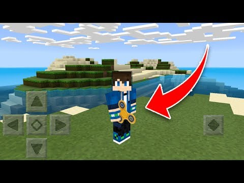 How to make a FIDGET SPINNER in MCPE!! Minecraft Pocket Edition