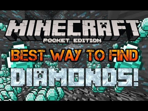 BEST WAY TO FIND DIAMONDS! Minecraft Pocket Edition