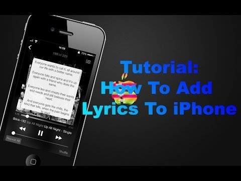 How to Add Lyrics to your iPhone, iPod Touch and iPad [NO JAILBREAK]