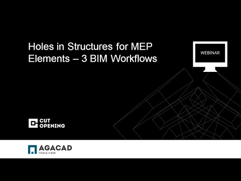 Holes in Structures for MEP Elements – 3 BIM Workflows