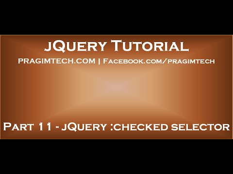 jQuery checked selector