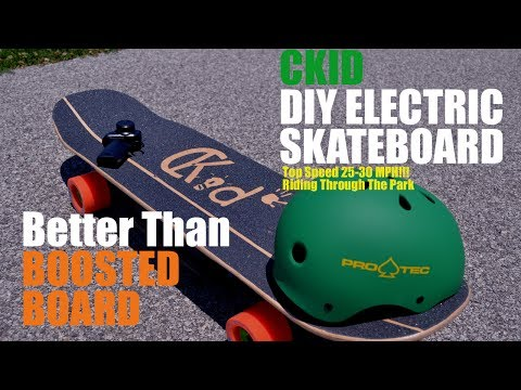 2017 Custom Electric Skateboard DIY - Faster Than Boosted Board