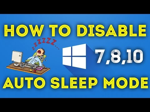 How To Disable Auto Sleep Mode In Windows 7, 8, 8.1, 10 [Hindi]