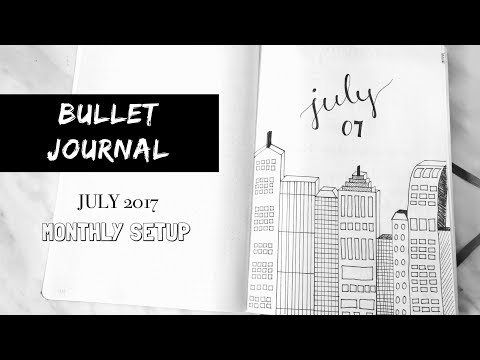 BULLET JOURNAL | JULY 2017 Monthly Setup (Plan with me)