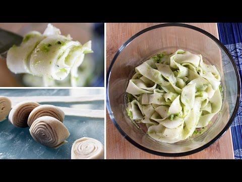 Vegan Fresh Pasta / Easy-Peasy Fettuccine - No pasta maker required