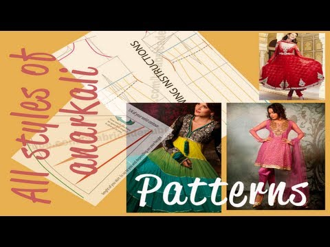 ☁ How to make all types of  Anarkali dress  patterns ☁