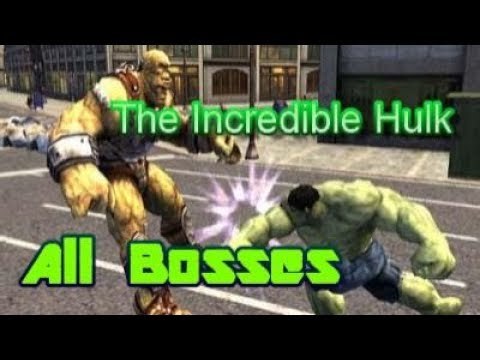 The Incredible Hulk All Bosses PS2 (2008)