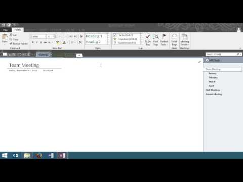 Microsoft OneNote 2013: Getting Started