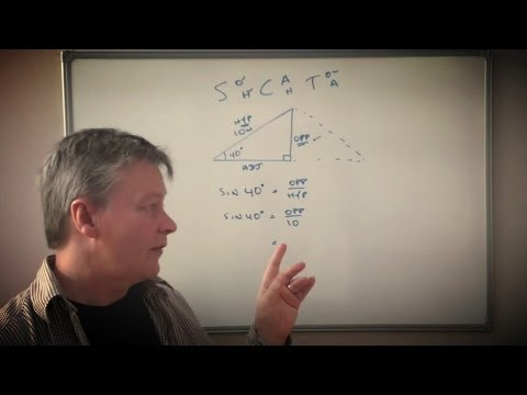 How to use SohcahToa with a right angle triangle to find a missing length