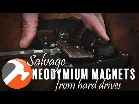 Salvage Neodymium (Rare Earth) Magnets From Hard Drive - I CAN MAKE THAT