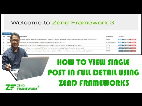 How to View the Details of a Post using Zend Framework3 Part-8