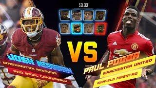 Josh Norman Skills Showdown vs. Paul Pogba   Redskins vs. Manchester United   NFL vs. Premier League