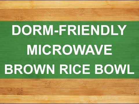 Microwave Brown Rice Bowl