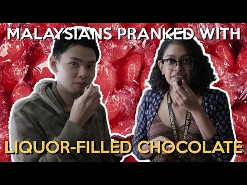 Malaysians Pranked with Liquor-filled Chocolate